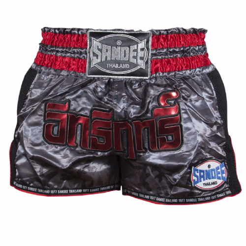 Sandee Supernatural Muay Thai Shorts - Black/Red
